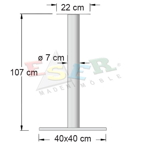 BFA 107-5-B Bistro & Bar Table Leg