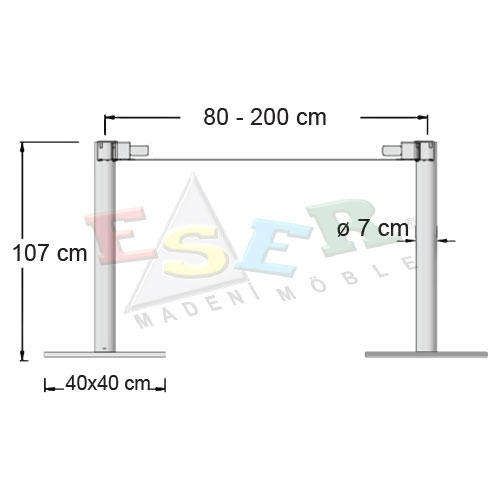 BFA 107-5-D Bistro & Bar Table Leg