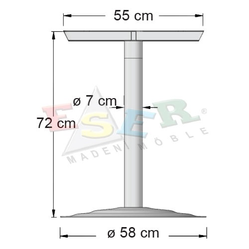 BFA 72-8-A Coffee Table Leg