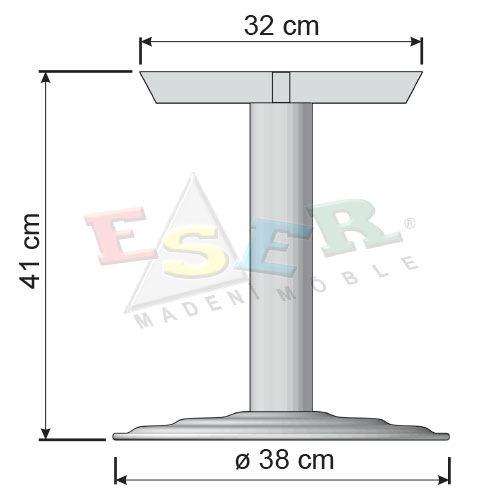 BSA 41 Big Coffe Table Leg