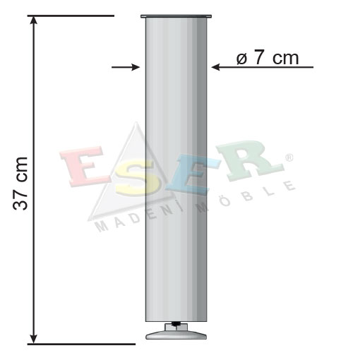 TAC 37 Single Coffe Table Leg For Glass